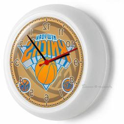 NY NEW YORK KNICKS BASKETBALL TEAM LOGO WALL CLOCK MAN CAVE