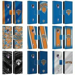 OFFICIAL NBA NEW YORK KNICKS LEATHER BOOK WALLET CASE COVER