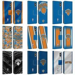OFFICIAL NBA NEW YORK KNICKS LEATHER BOOK WALLET CASE FOR AP