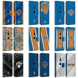 OFFICIAL NBA NEW YORK KNICKS LEATHER BOOK WALLET CASE FOR SO
