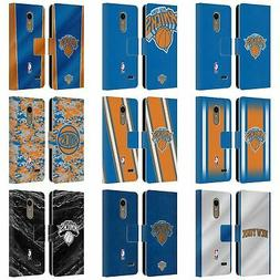 OFFICIAL NBA NEW YORK KNICKS LEATHER BOOK WALLET CASE FOR LG