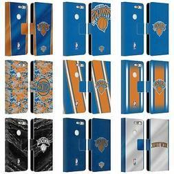 OFFICIAL NBA NEW YORK KNICKS LEATHER BOOK WALLET CASE FOR GO