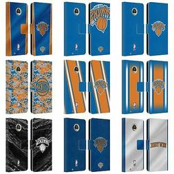 OFFICIAL NBA NEW YORK KNICKS LEATHER BOOK WALLET CASE FOR MO