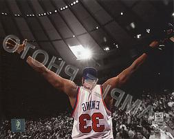 PATRICK EWING VICTORY 1994 NEW YORK KNICKS SPOTLIGHT 8X10 AC