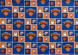 RARE! NBA Basketball NY New York Knicks Cotton Fabric HALF Y