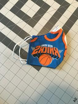Recycled Curtain New York Knicks Men's size face mask