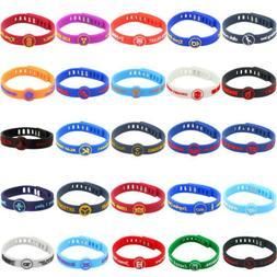 Silicone Wristband Rubber Bracelet Adjustable for nba Basket