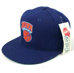 Vintage New York Knicks New Era Pro Model Fitted Hat Cap Blu