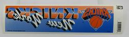 Vtg NBA Basketball NEW YORK KNICKS Sports Bumper Sticker Tag